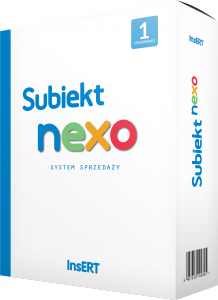 Subiekt NEXO pudełko